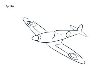 Sorores_RAFEvent_AircraftIllustrations_Spitfire